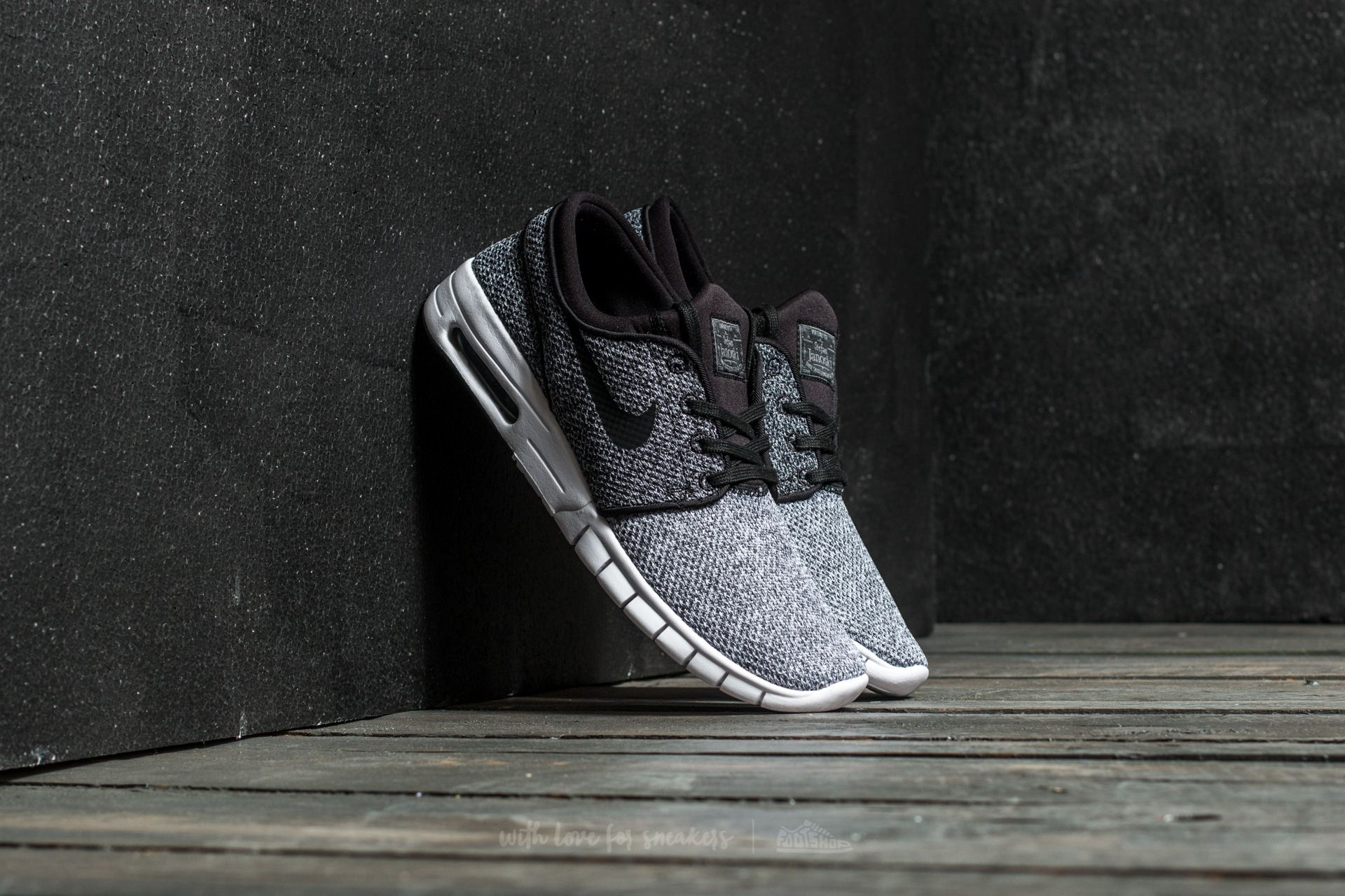 Nike Stefan Janoski Max White/ Black-Dark Grey
