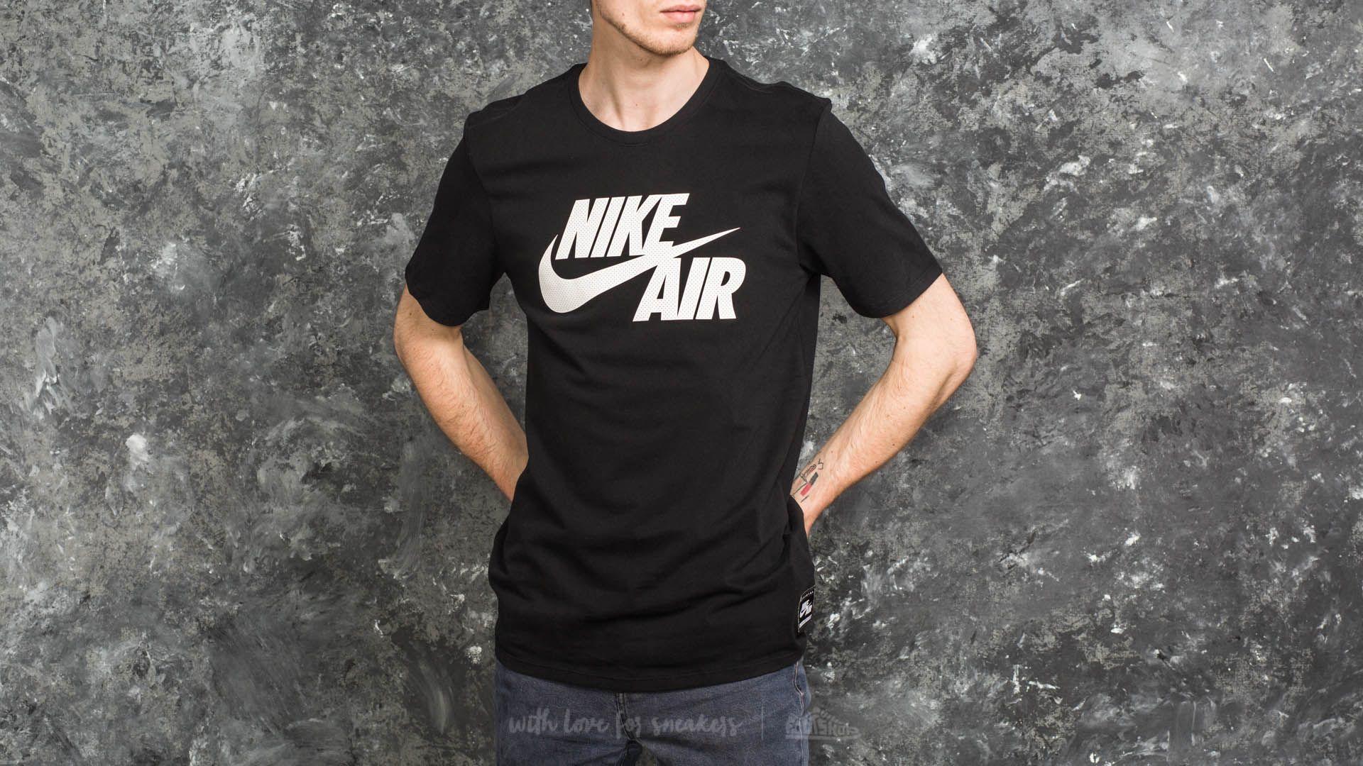Nike Sportswear Air Logo Tee Black/ White