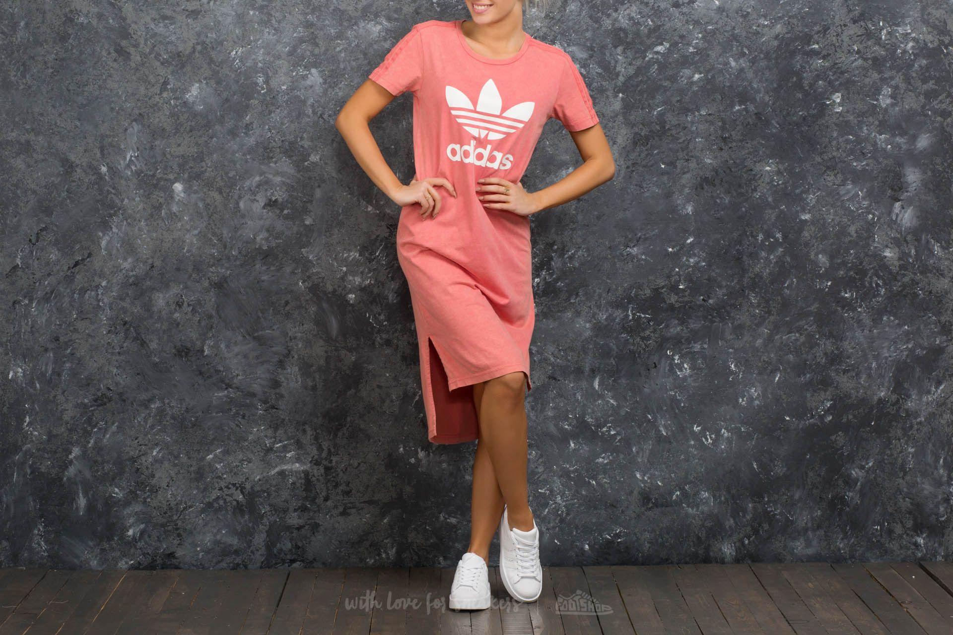 adidas Ocean Elements Tee Dress Pink