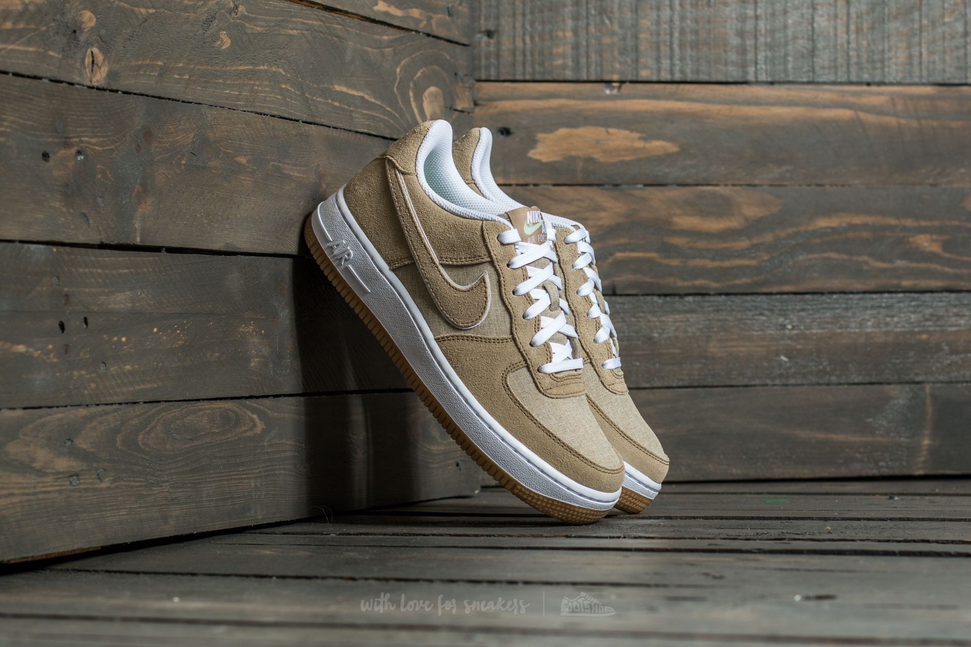 Nike Air Force 1 (GS) Khaki/ Khaki- White