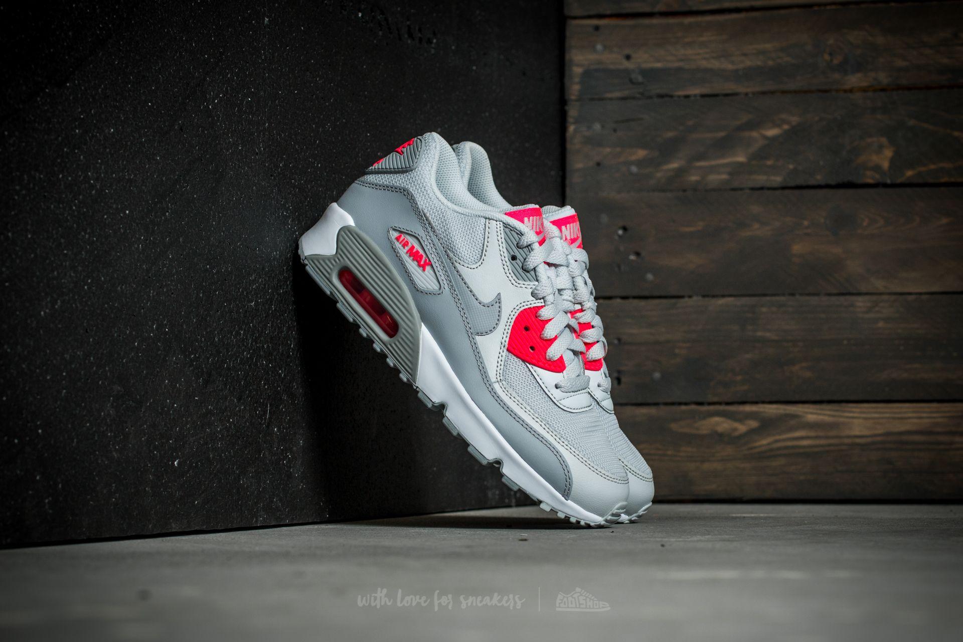 Nike Air Max 90 Mesh (GS) Pure Platinum/ Wolf Grey