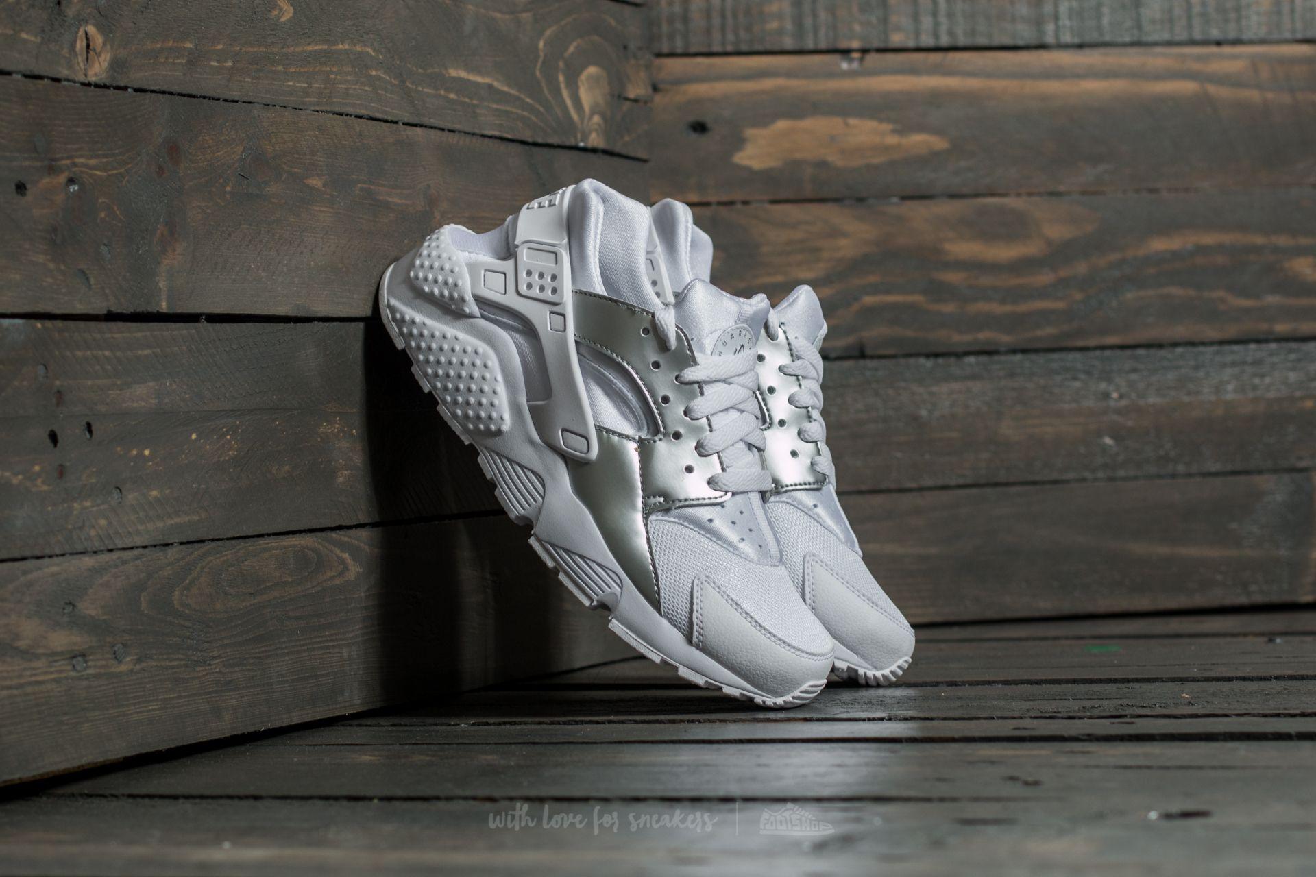 Nike Huarache Run (GS) White/ Metallic Silver