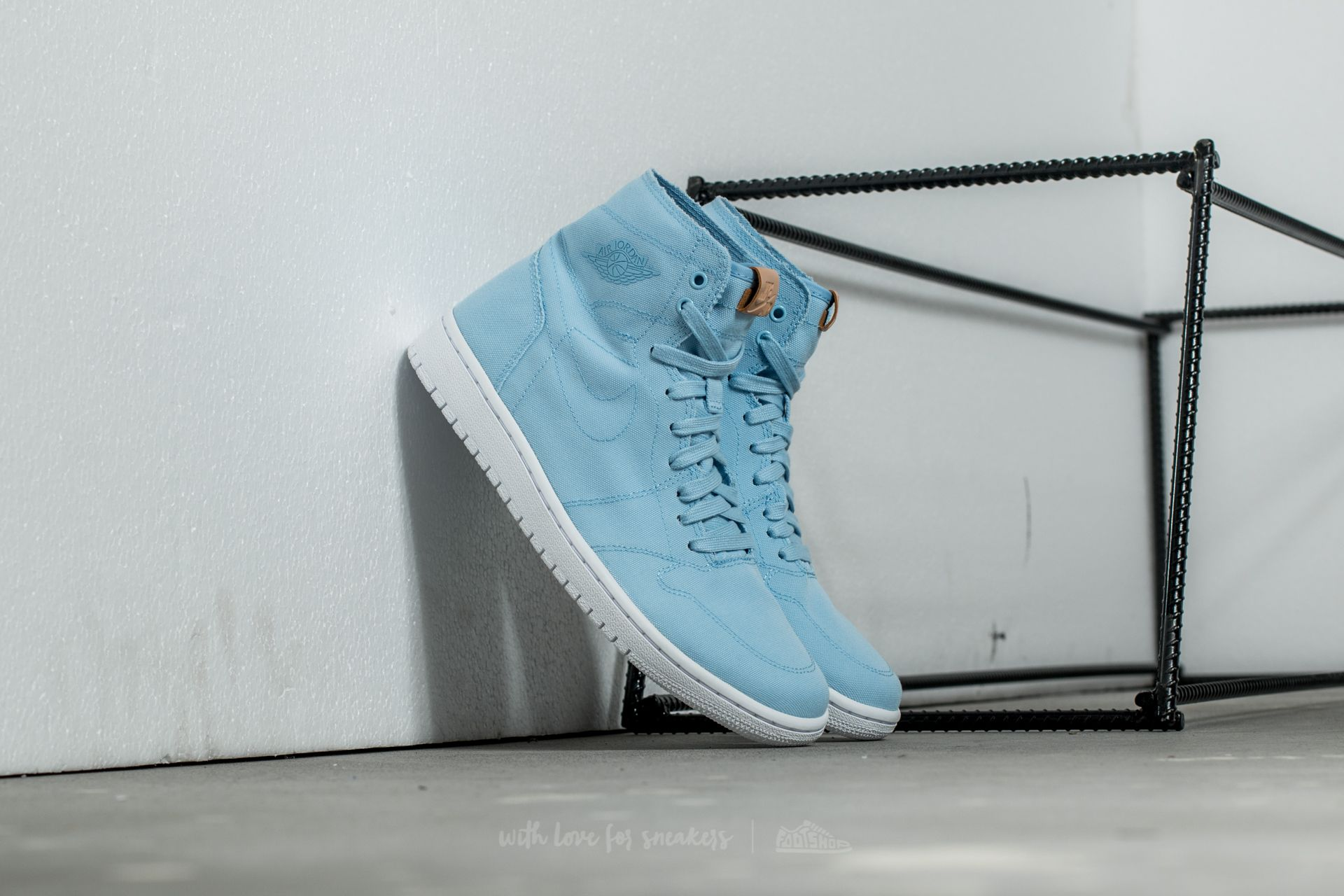 Air Jordan 1 Retro High Decon Ice Blue/ White-Vachetta Tan