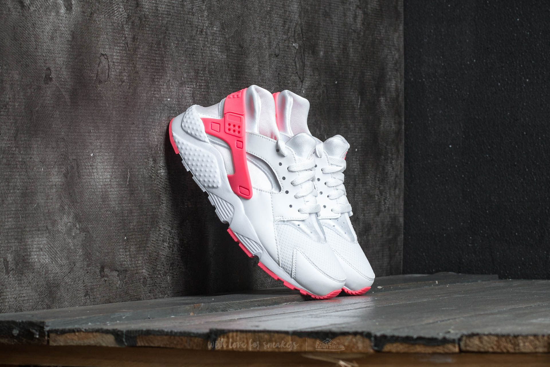 Nike Huarache Run (GS) White/ Racer Pink
