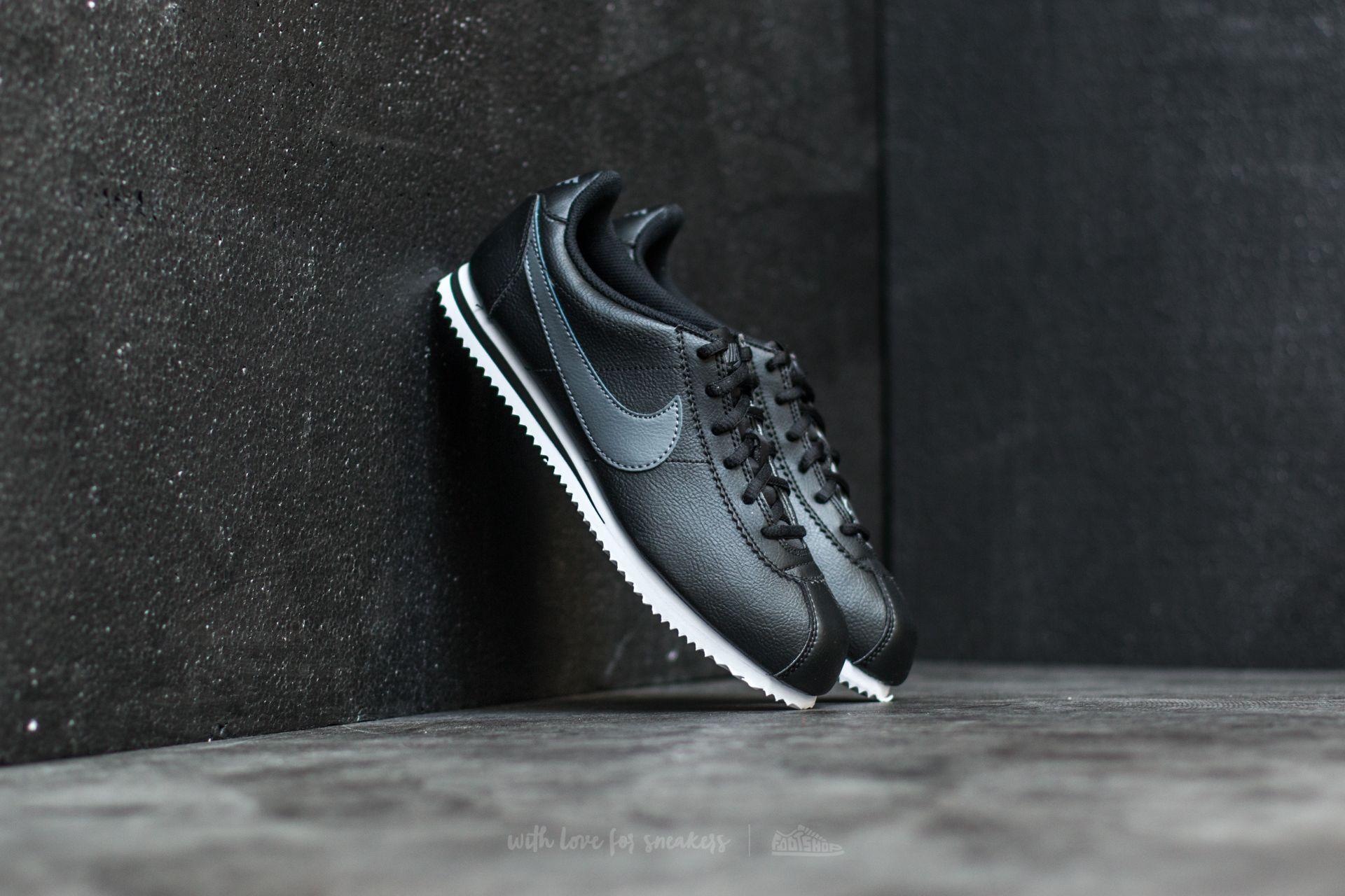 Nike Cortez (GS) Black/ Dark Grey-White