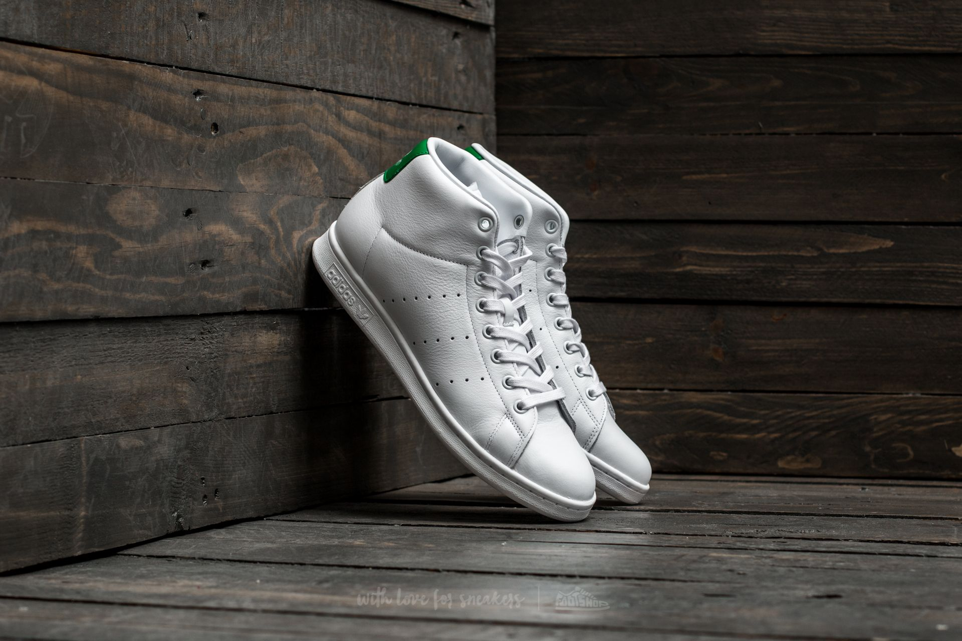 adidas Stan Smith MID Footwear White/ Footwear White/ Green