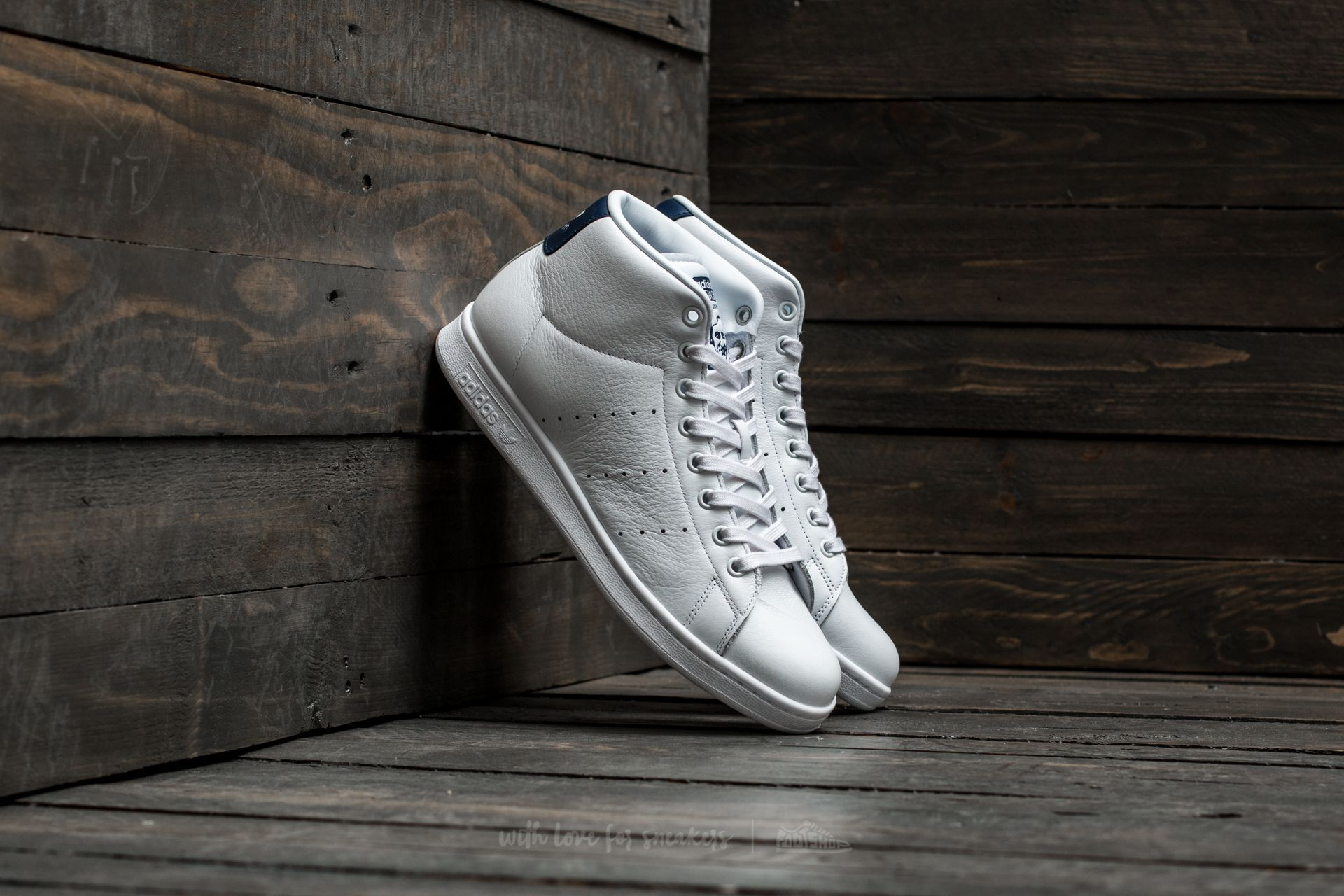 adidas Stan Smith Mid Ftw White/ Ftw White/ Dark Blue