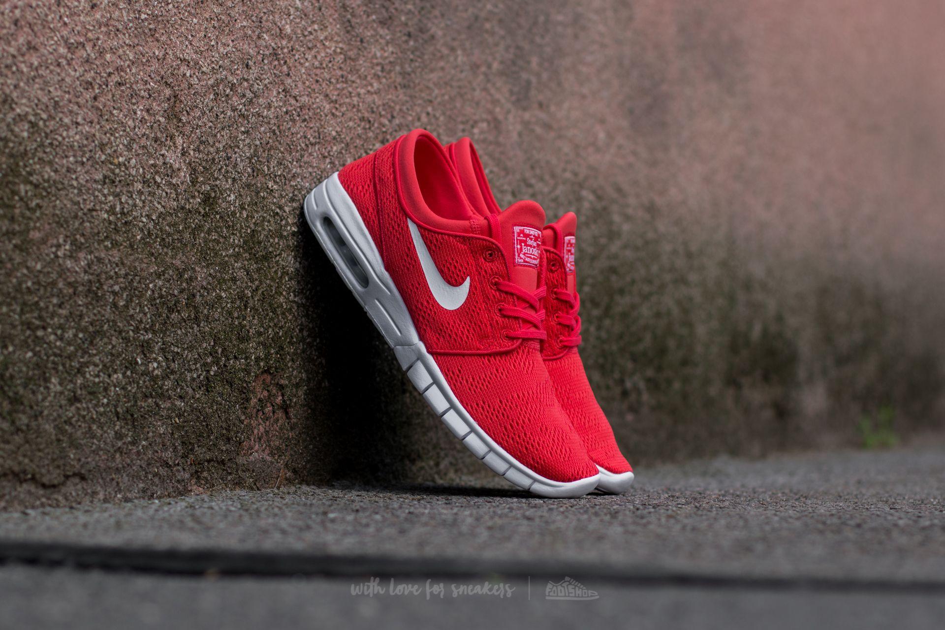 Nike Stefan Janoski Max Track Red/ White