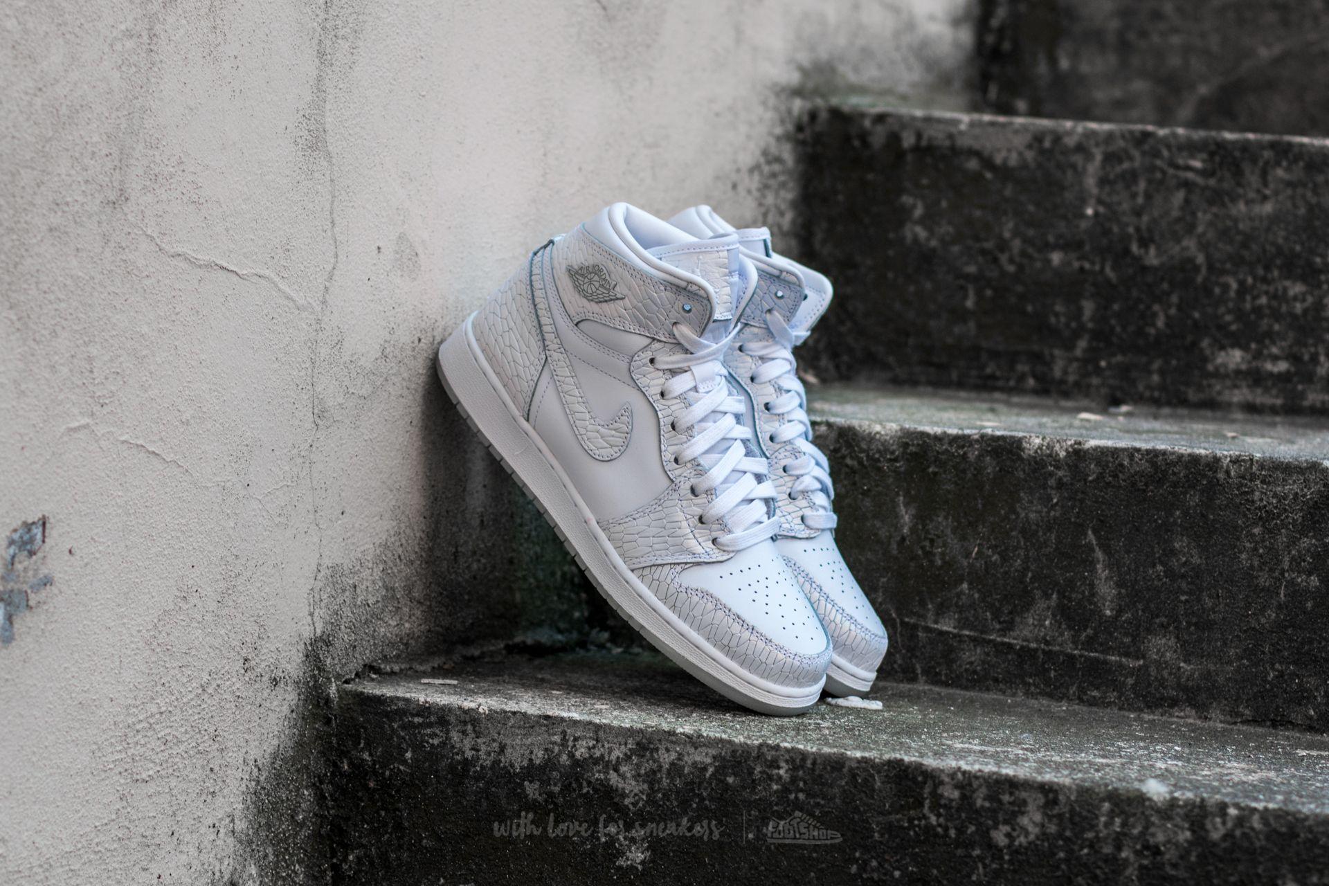 Air Jordan 1 Retro Hi Premium HC GG White/ White-Pure Platinum
