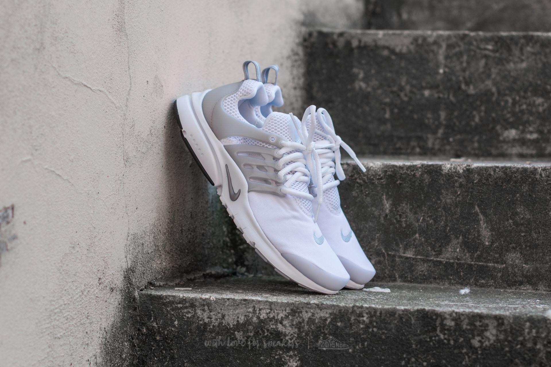 Nike Presto (GS) White/ Metallic Silver-White