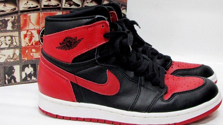 Detailní pohled na první vydání Nike Air Jordan 1