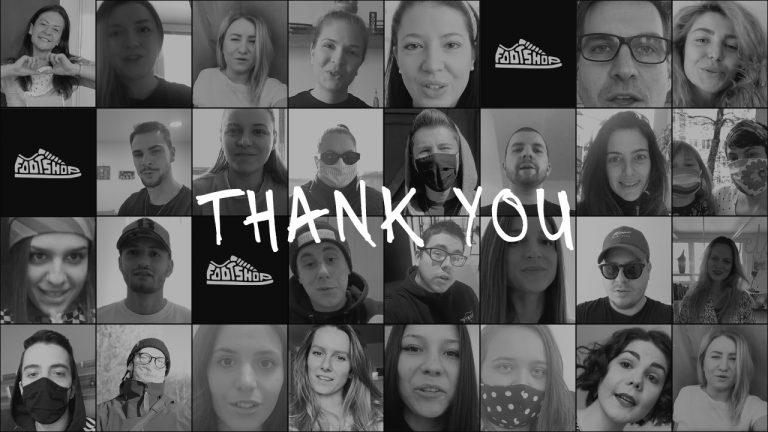 Thank you. Footshop posílá vzkaz (nejen) všem v první linii