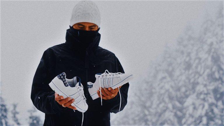 Editorial: Footshop x adidas Superstar 'Blueprinting' na sněhu