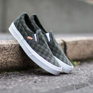 Vans Classic Slip-On California Washed Herringbn Grn/Chk