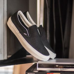 Vans Classic Slip On Braided Suede Black