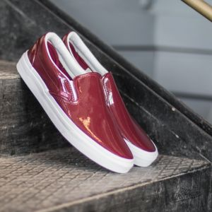 Vans Classic Slip On Tumble Patent Burgundy