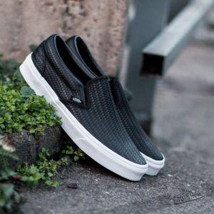 Vans Classic Slip-On Embossed Weave Black/True White