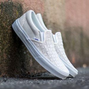Vans Classic Slip-On (Suede Checkers) Blanc De Blanc