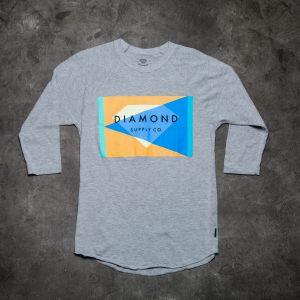 Diamond Geometric Reglan Tee Grey