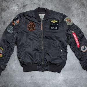 Alpha Industries MA-1 Pilot 171 Black Overdyed