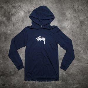 Stüssy Marker Stock Long Sleeve Hood Tee Navy